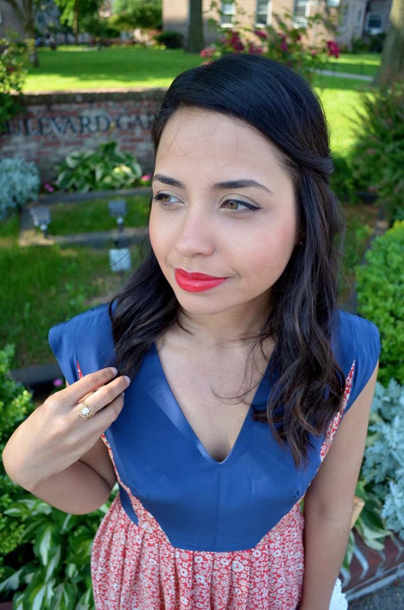 Lisa Rosado wearing Nani's Opal Ring