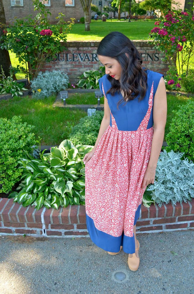 Lisa Rosado wearing Lauren Moffat Swing Midi Dress