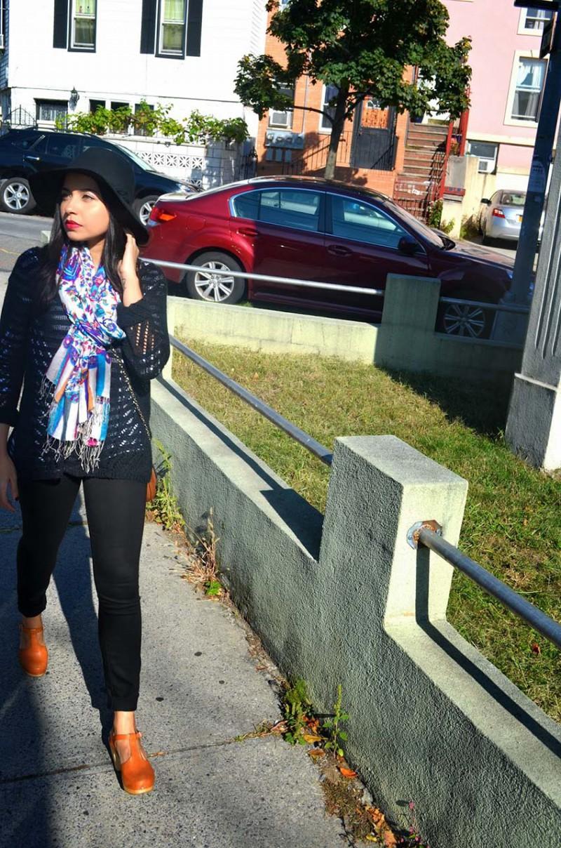 Lisa Rosado wearing Elizabeth & James Downtown Pullover