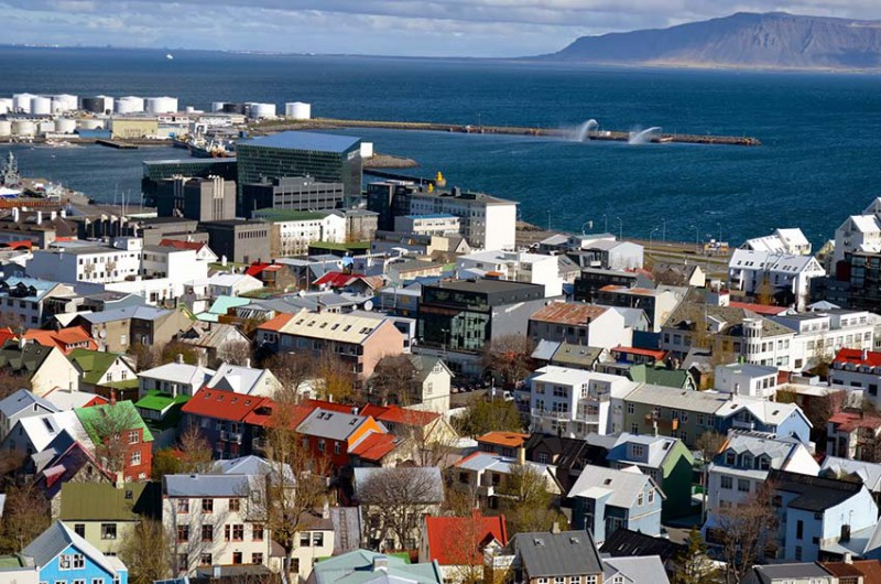 View from the top of Reykjavik