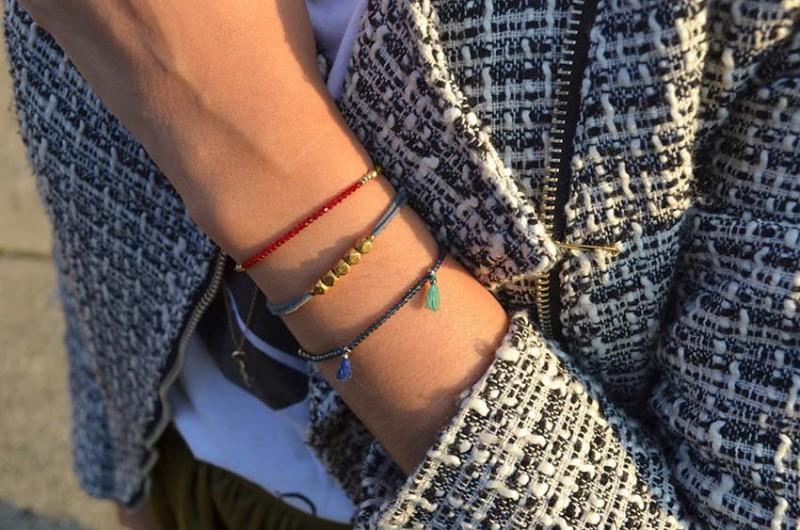 Lisa Rosado wearing Shashi Bracelets