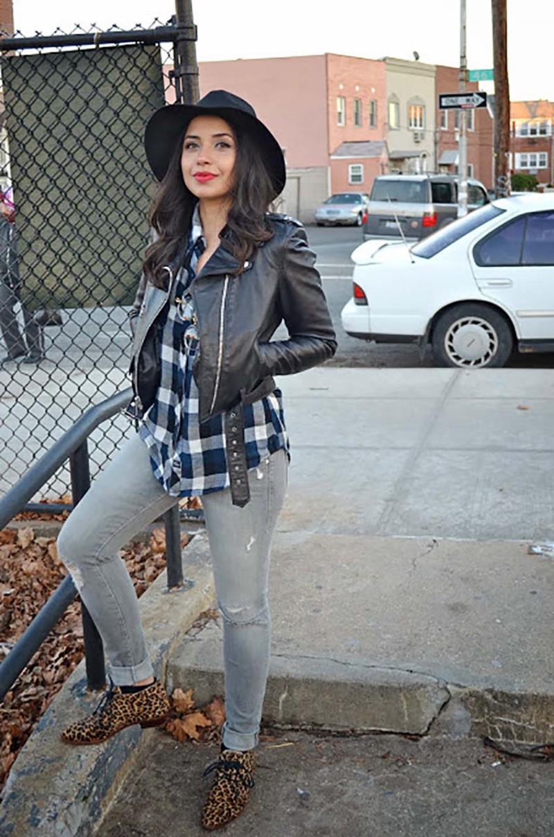 "Lisa Rosado wearing Rails Kendra Tencel, Mother ""The Looker"" Jeans & Modern Vice Cheetah Benni Shoes"