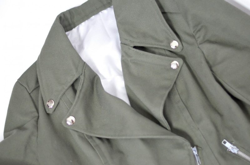 Army Green Moto Jacket 1