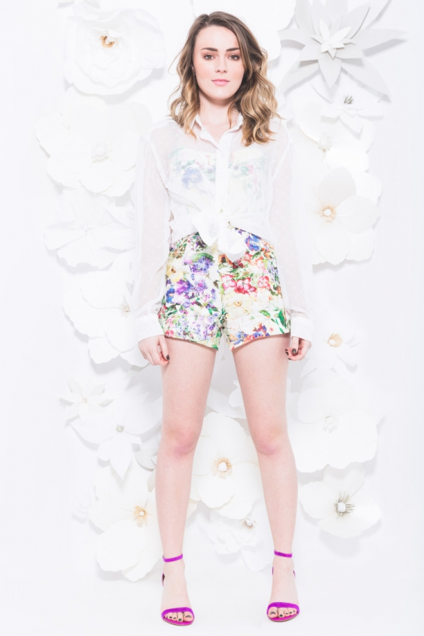 TST Collective In Bloom Playsuit Swiss Dot Chiffon Top
