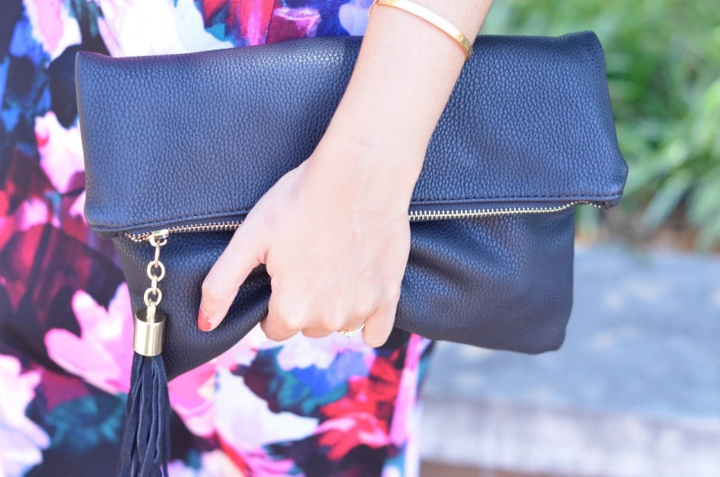 Shiraleah Black Foldover Clutch