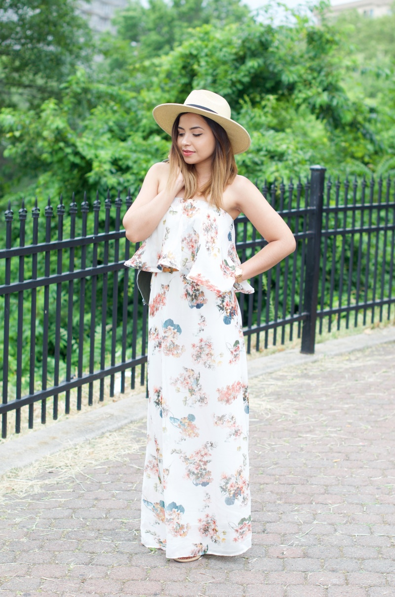 The Style Theory Lisa and Lucy Floral Ruffle Maxi Dress