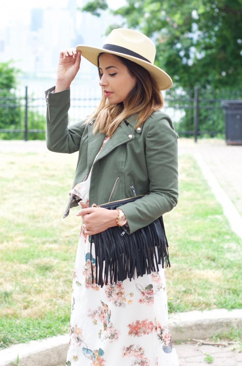 The Style Theory Moto Jacket and Fringe Bag