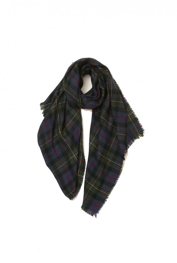 green-plaid-scarf