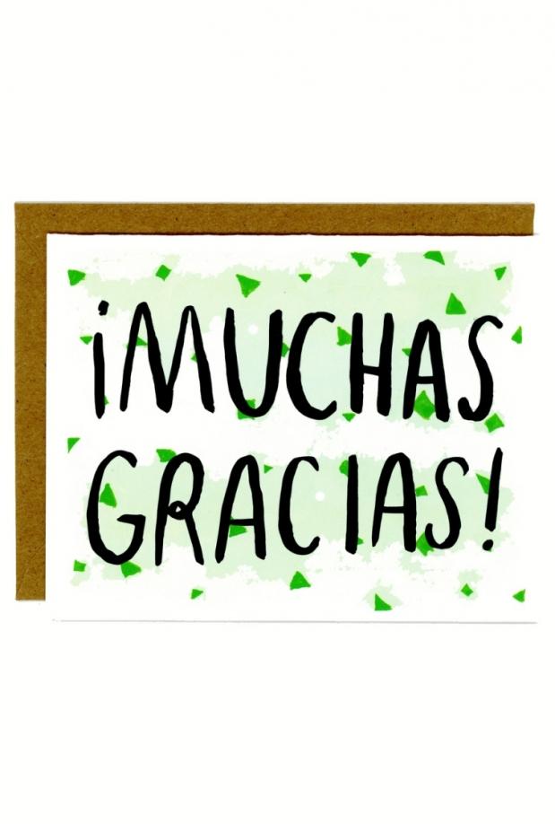 In Company Muchas Gracias Card