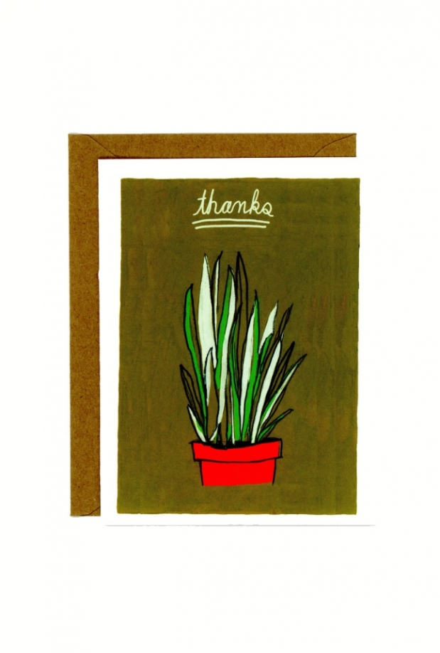 In Company Thanks Plant Card