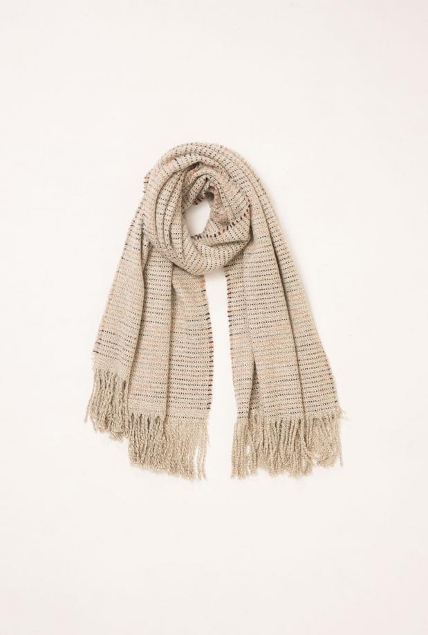 ivory-gradient-striped-scarf