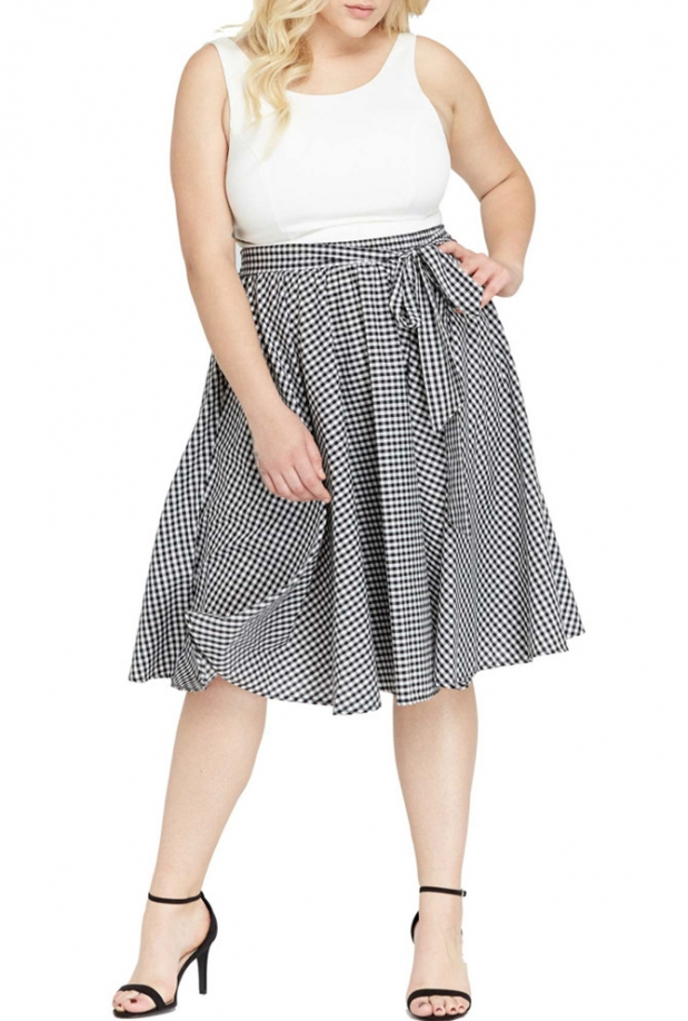 plus-valerie-checkered-circl-skirt-1