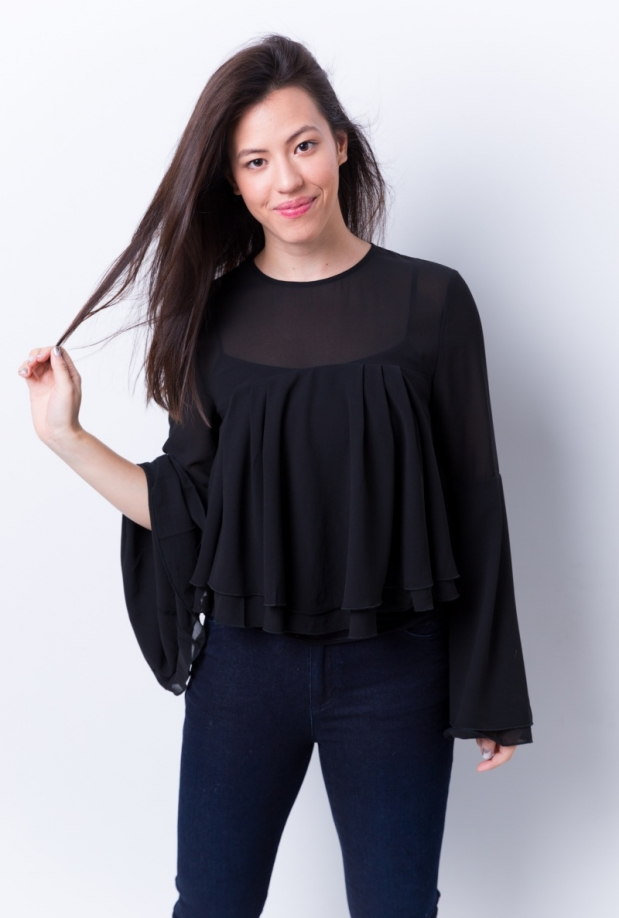 Avery Chiffon Bell Sleeve Top