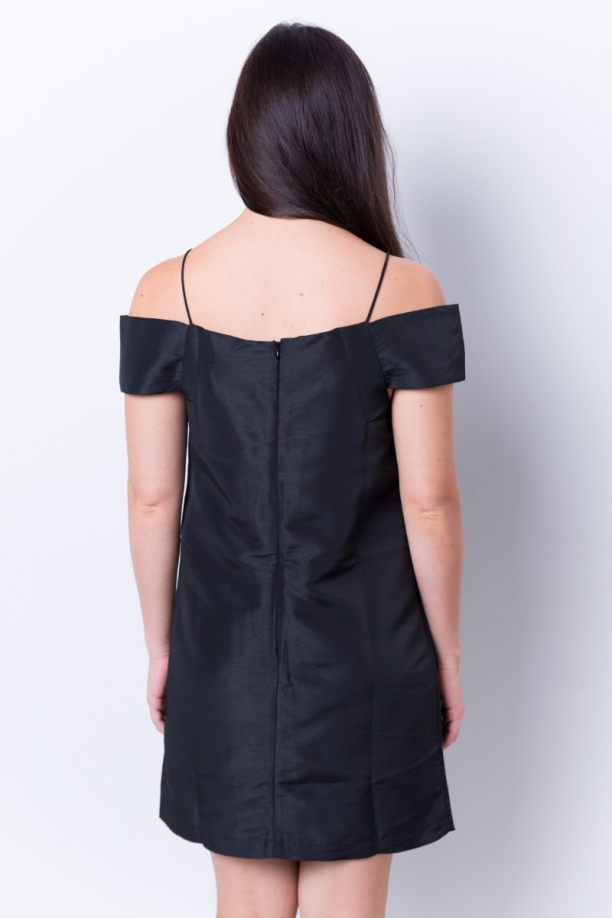 Milly Black Mini Dress back
