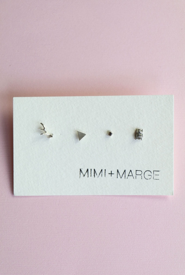 Mimi & Marge Mix + Match Studs- Antler, Triangle, Rock, Beetle