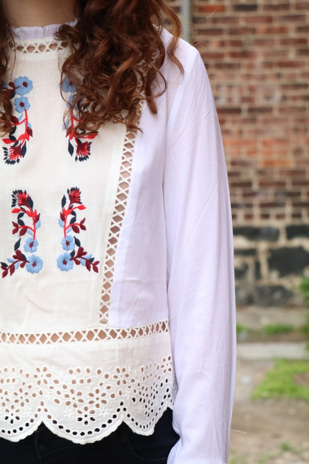Sofia Floral Embroidered Top