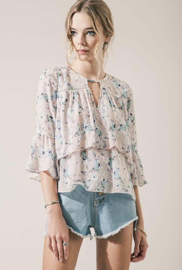 Moon River Azalea Floral Top