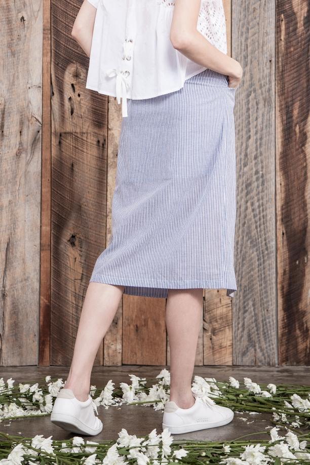 Chelsea Stripe Midi Skirt