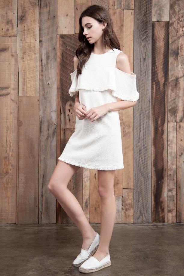 Kayla Woven Cold Shoulder Dress