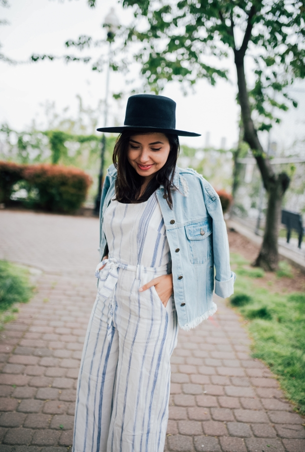 Jessie Striped Woven Jumpsuit