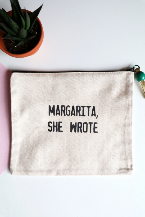 Margarita Canvas Pouch