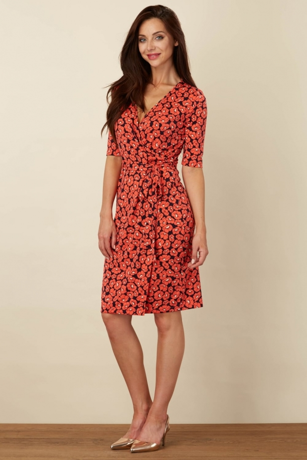 Marian Floral Jersey Wrap Dress