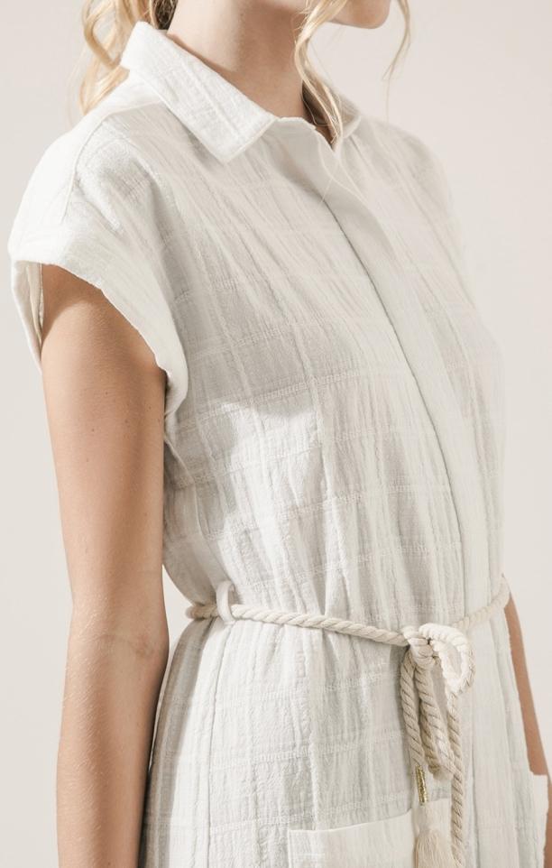 Moon River Linen Shirt Dress
