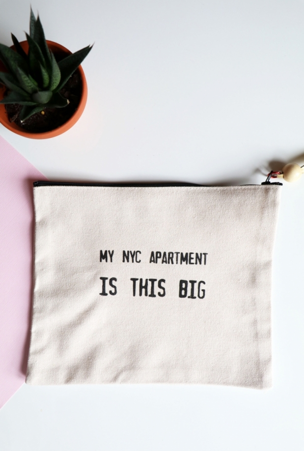NYC Apartment Canvas Pouch