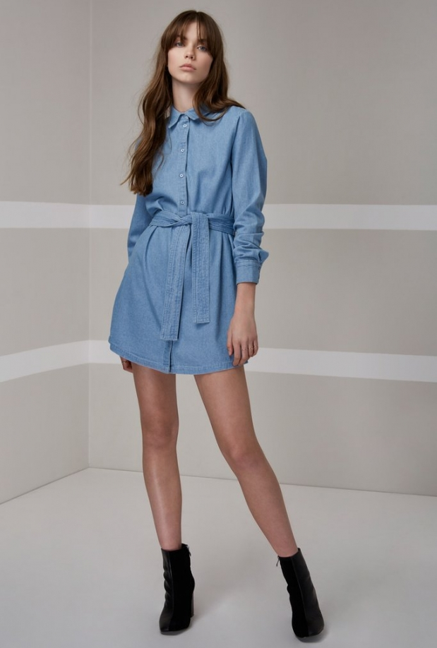 The Fifth Label Blue Eyes Shirt Dress