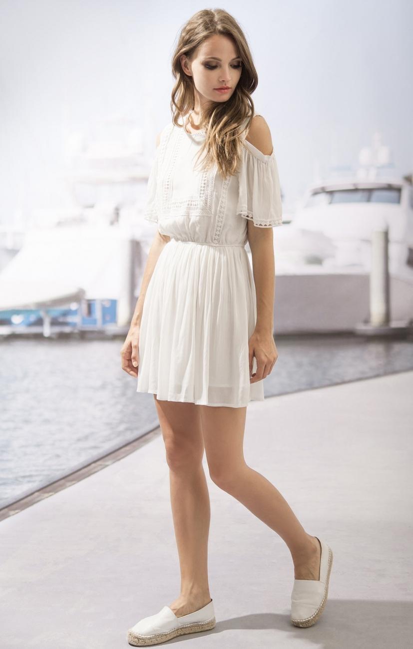 0e487167c0 Moon River Summer Lace Cold Shoulder Dress