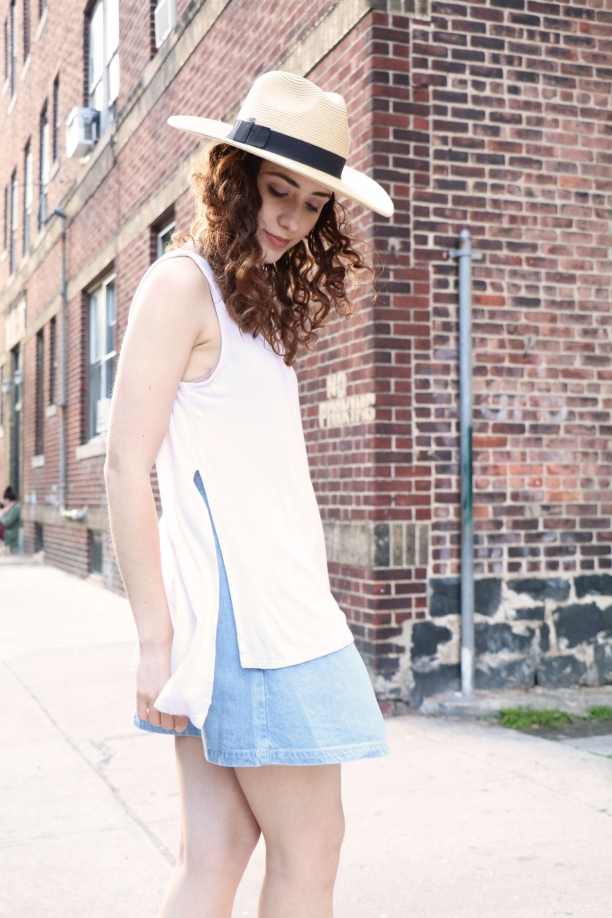 NYTT Off White High Low Muscle Tank