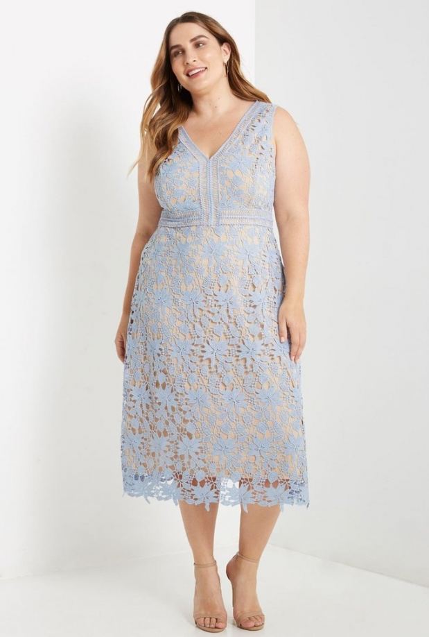 Plus Lexi Lace Shift Midi Dress