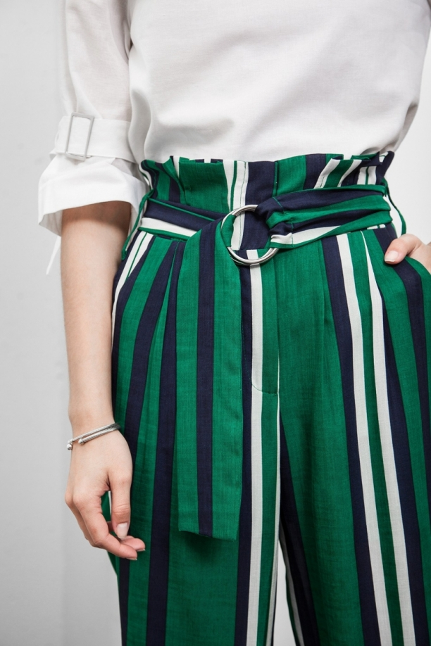 Beverly High Waisted Stripe Pants