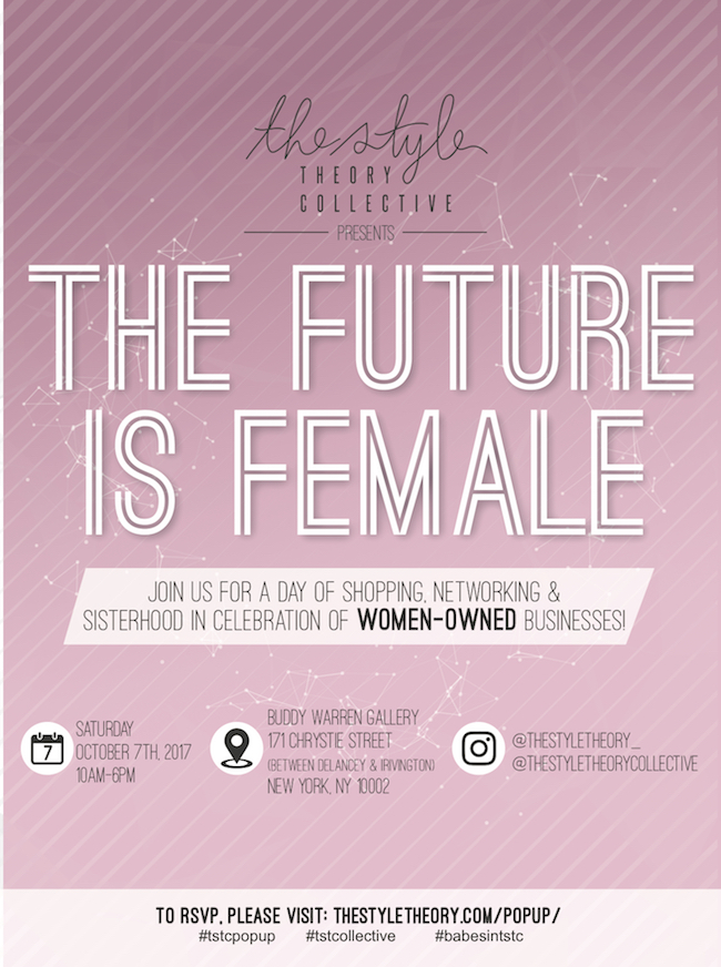 The Future is Female popup flyer