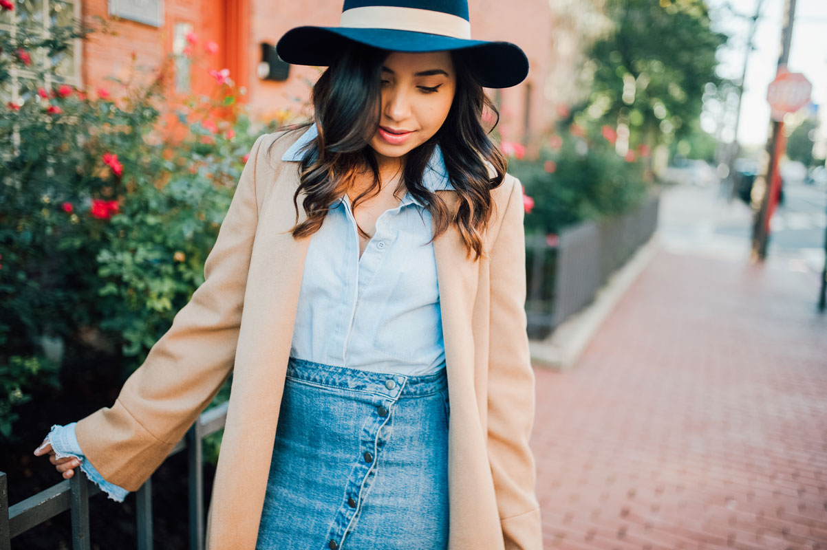 Canadian Tuxedo Denim on Demin | Why you should invest in a camel coat